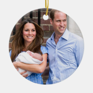 Kate & William with Newborn Son Christmas Ornament