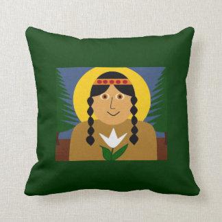 Kateri Tekakwitha Throw Pillow