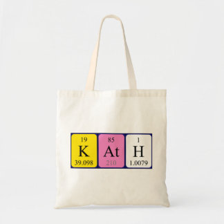 Kath periodic table name tote bag