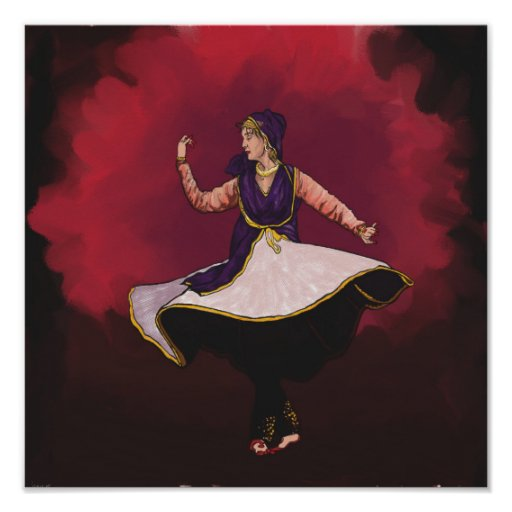 Kathak Dancer - a solo performance Poster