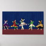 Kathak Dancers Miniature Print