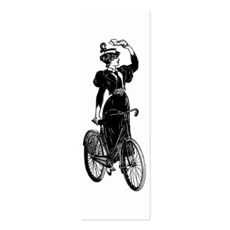 Katherine, a Vintage Cyclist Pack Of Skinny Business Cards