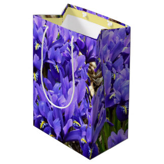 Katherine Hodgkin Irises Blue Purple Spring Floral Medium Gift Bag