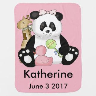 Katherine's Personalized Panda Baby Blanket