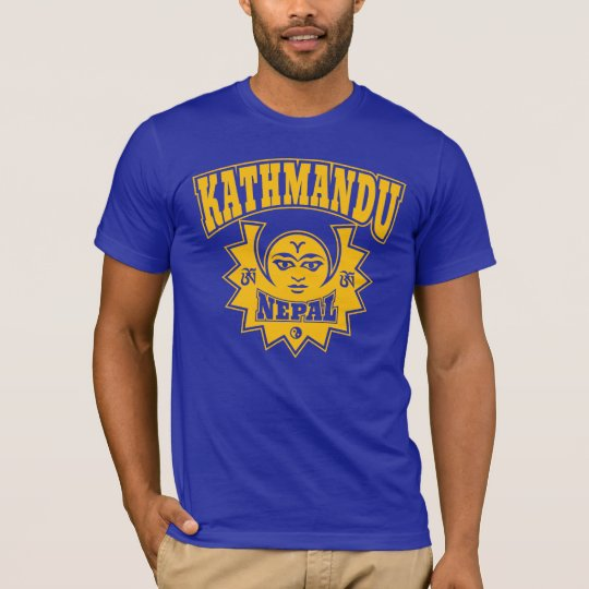 Kathmandu Nepal Sun and Moon Symbols T-Shirt