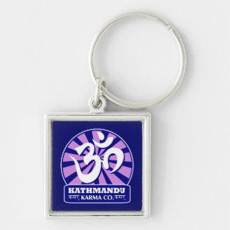 Kathmandu New Age and Buddhist Om Symbol Key Ring