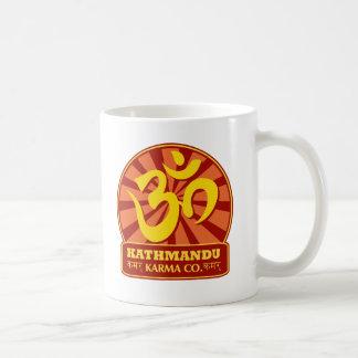 Kathmandu New Age and Buddhist Om Symbol Basic White Mug