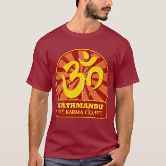 Kathmandu New Age and Buddhist Om Symbol T-Shirt