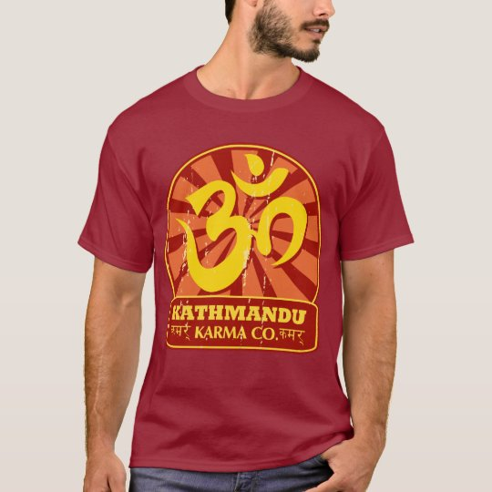 Kathmandu New Age and Buddhist Om Symbol T-Shirt
