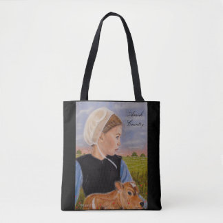 Kathryn In The Meadow Amish Themed Tote Bag