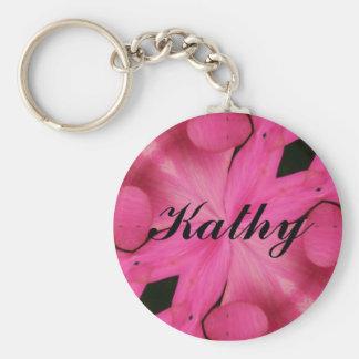 Kathy Basic Round Button Key Ring
