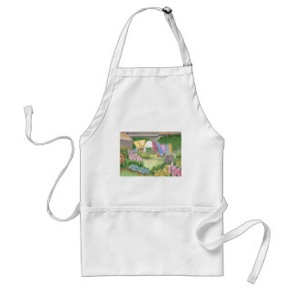 Kathy's Laundry on Monhegan Island Watercolor Standard Apron