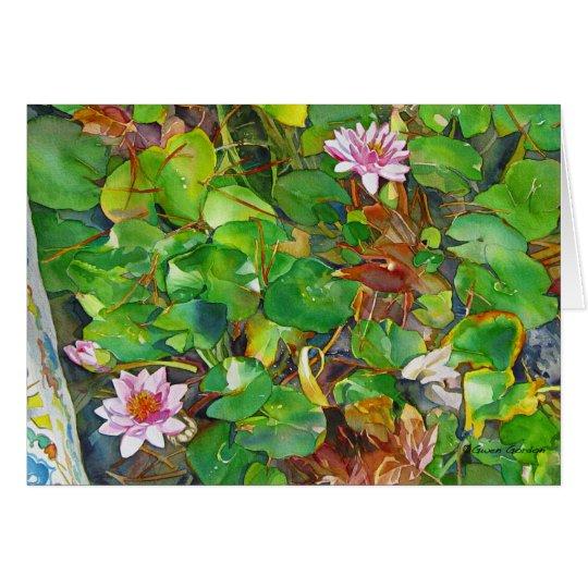 """""""Kathy's Waterlilies"""" Card"""