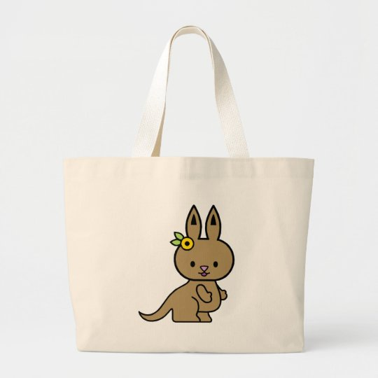 Katie the Kangaroo Large Tote Bag