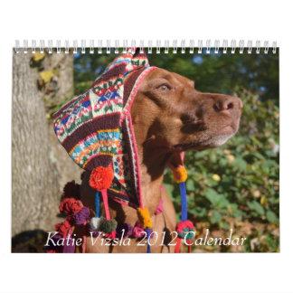 Katie Vizsla 2012 Calendar