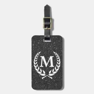 Katinos Antique Black Glitz Monogrammed Luggage Tag
