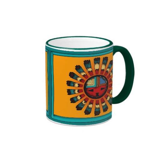 Katsina (Kachina) Sun Face Ringer Mug