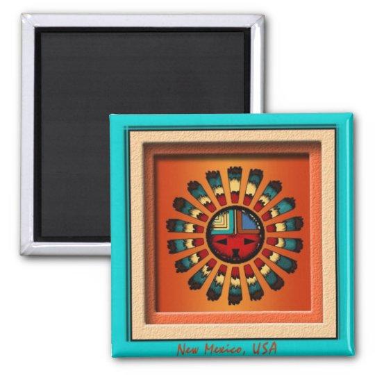 Katsina Sun Face Square Magnet
