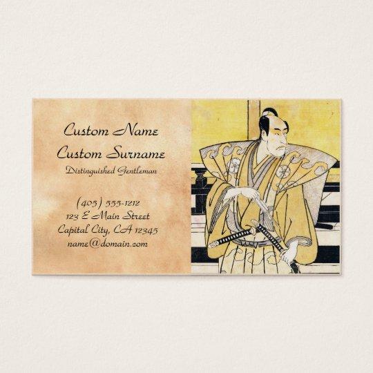 Katsukawa Shunsho Actor as Samurai Katana art Business