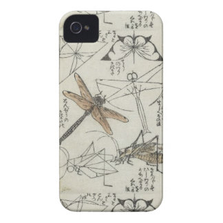 Katsushika Hokusai's Insects iPhone 4 Case-Mate Cases