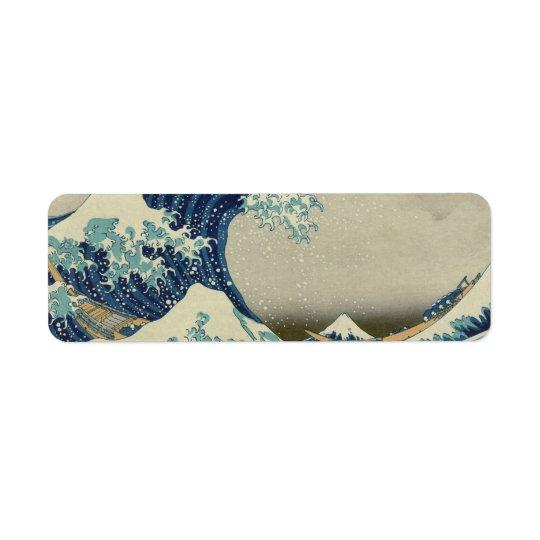 Katsushika Hokusai: The Great Wave at Kanagawa Return Address Label