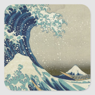 Katsushika Hokusai: The Great Wave at Kanagawa Square Sticker