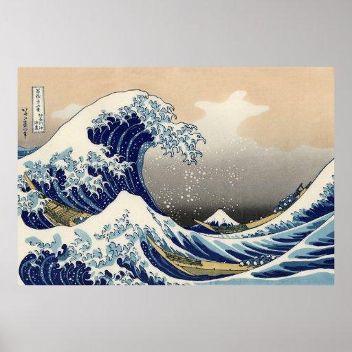 Katsushika Hokusai: The Great Wave off Kanagawa Print