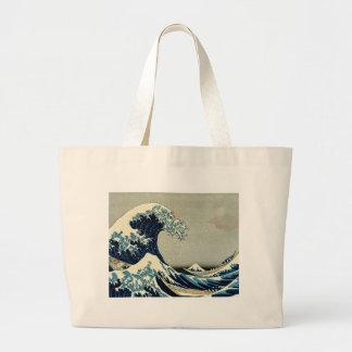 Katsushika Hokusai's Great Wave off Kanagawa Large Tote Bag