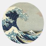Katsushika Hokusai's Great Wave off Kanagawa Stickers