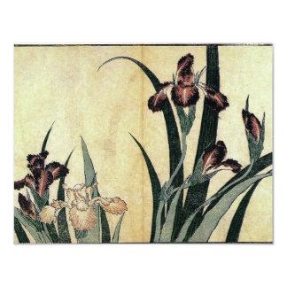 Katsushika Hokusai's Irises Card