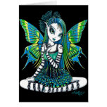 """Katy"" Green Tattoo Faerie Art Card"