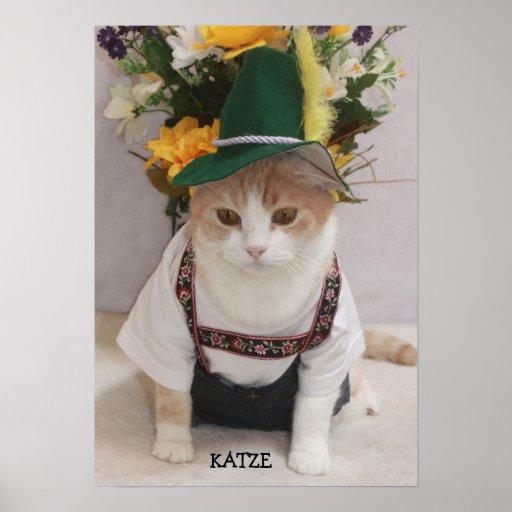 KATZE/CAT Funny German Cat Poster
