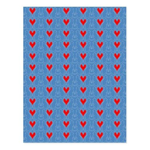 Katzen Herzen Postkarte