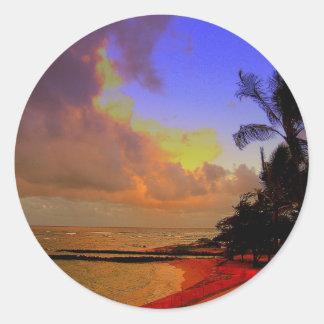 Kauai Hawaii Classic Round Sticker