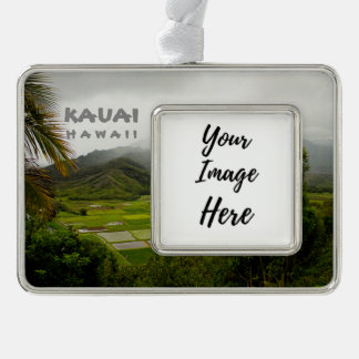 Kauai Hawaii Landscape Photography Silver Plated Framed Ornament