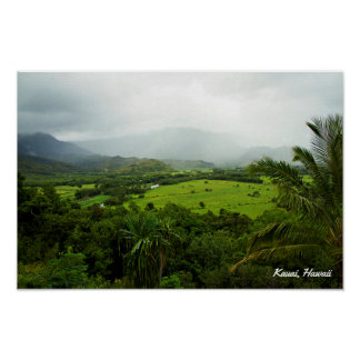Kauai, Hawaii Landscape Scene Poster