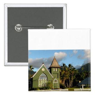 Kauai Hawaii North Shore Chapel 15 Cm Square Badge