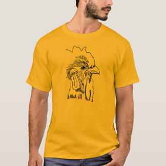 Kauai, HI Men's Rooster Tshirt
