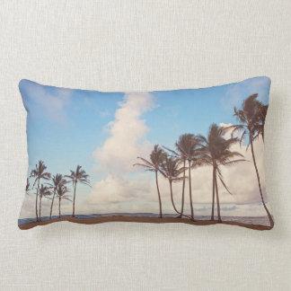 Kauai Island Palm Tree Lumbar Throw Pillow