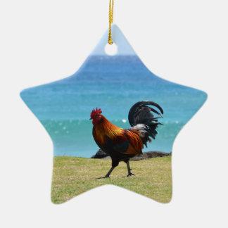 Kauai rooster christmas ornament