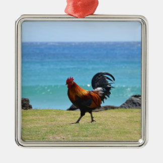 Kauai rooster christmas ornament