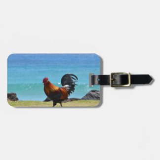 Kauai rooster luggage tag