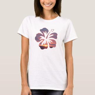 Kauai Sunset in a Hibiscus Flower T-Shirt