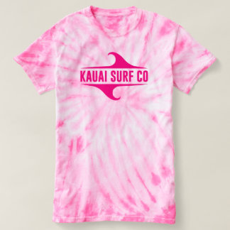Kauai Surf Co. Pink Tie-Dye T-Shirt