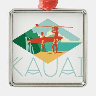 Kauai Surfers Christmas Ornament