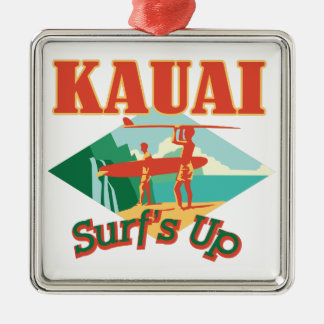 Kauai Surfs Up Christmas Ornament