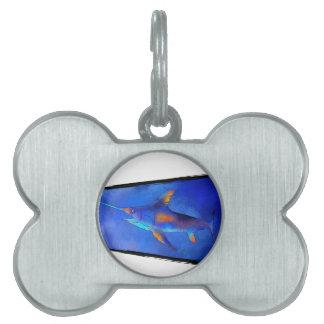 Kauderon V1 - Beautiful Swordfish Pet ID Tag
