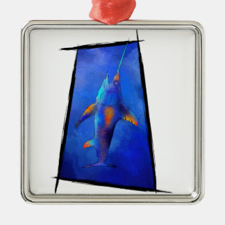 Kauderon V1 - Beautiful Swordfish with text Christmas Ornament