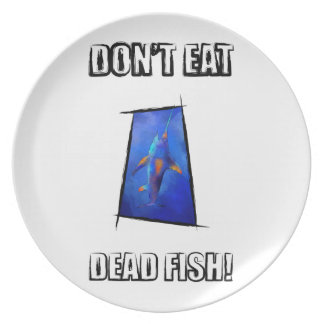 Kauderon V1 - Beautiful Swordfish with text Plate
