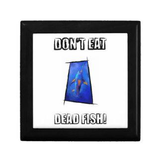 Kauderon V1 - Beautiful Swordfish with text Small Square Gift Box